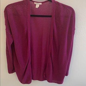Caslon Open front sweater burgundy L